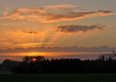 10 Minuten nach Sonnenaufgang