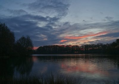 Morgenrot am Saller See