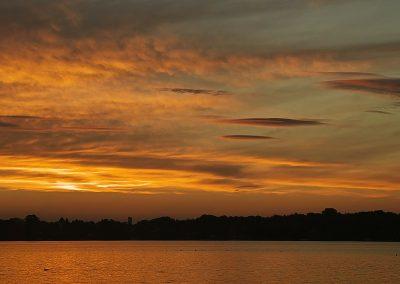 Nach Sonnenuntergang am Dämmeritzsee