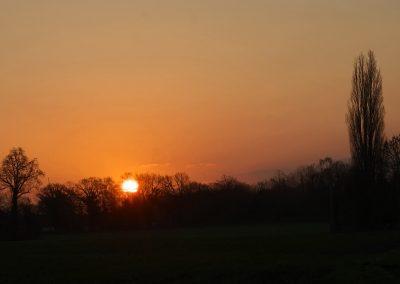 Sonnenaufgang am Rande von Borghorst