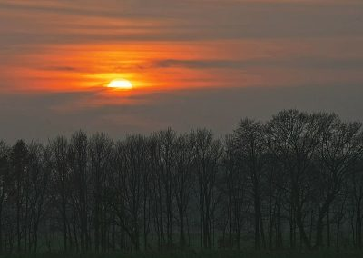 Sonnenuntergang am Rand von Saerbeck