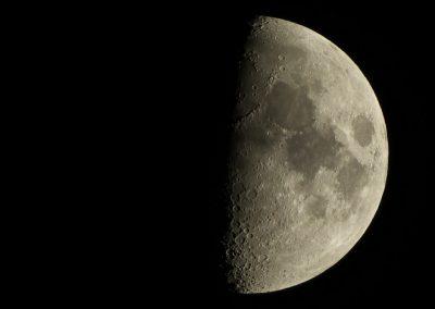 Zunehmender Mond am 17.01.2016