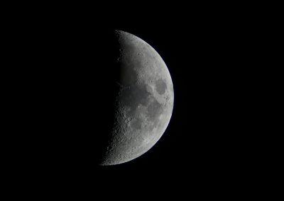 Zunehmender Mond am 24.05.2015